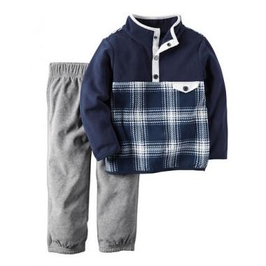 Кофта со штанишками Carters 67-72 см Синий с серым