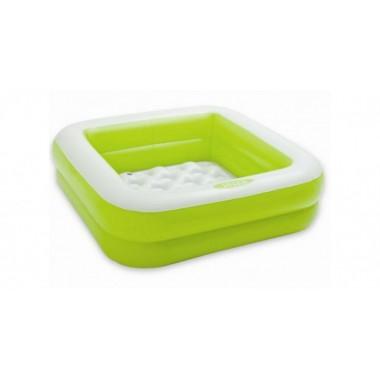Детский надувной бассейн Intex, Зеленый, 85 х 85 х 23 см (57100)