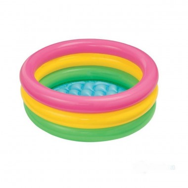 Детский надувной бассейн Intex 58924 с надувным дном «Радуга», 86 х 25 см